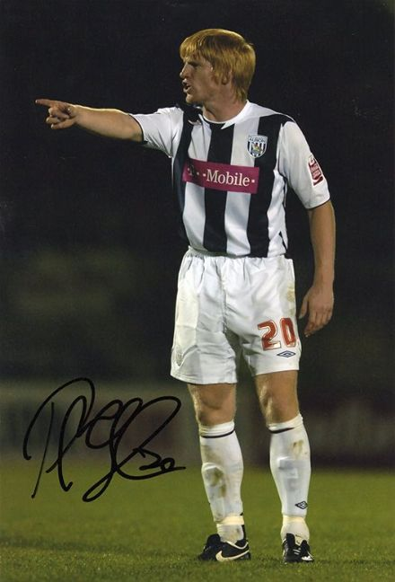 Paul McShane, West Brom, signed 12x8 inch photo.